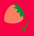 flat strawberry realistic juicy halves of vector image