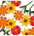flower floral pattern nature icon vector image