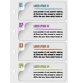 infographic design number template vector image