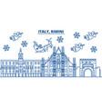 italy rimini winter city skyline merry christmas vector image