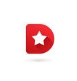 Letter D star logo icon design template elements vector image