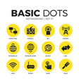 networking flat icons set vector image