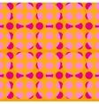 Pink polka dot geometric seamless pattern vector image