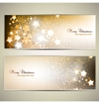 Set of Elegant Christmas banners with stars vector image vector image