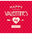 Happy valentines day card retro vintage vector image