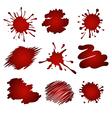 red splatters vector image