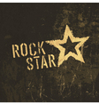 rock star grunge icon vector image