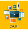Credit concept in flat style vector image vector image