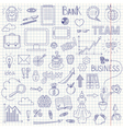 Business doodle background vector image