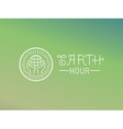 earth hour logo design in linear style vector image vector image