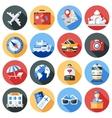 Travel Icon Flat Set vector image