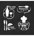 Restaurant logo elements Set of flat logotypes vector image