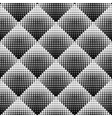 Seamless Black And White Stippling Rhombus vector image