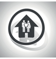 Couple house sign sticker curved vector image
