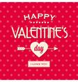 Happy valentines day card retro vintage vector image