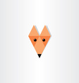 triangles fox head icon design vector image