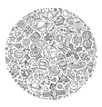 Set of Spacel cartoon doodle objects vector image vector image