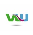 VW logo vector image