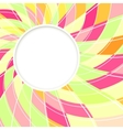 Abstract white round shape Candy background vector image