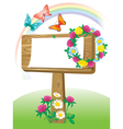 Summer wooden notice board vector image