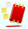 Daily and pensil and scotch vector image