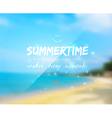 Summertime background vector image vector image