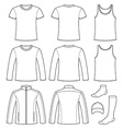 Singlet T-shirt Long-sleeved T-shirt Jacket Socks vector image vector image