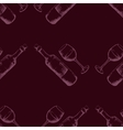 Seamless pattern with hand drawn wine vector image