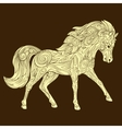 Horse ornament ethnic vector image