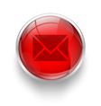 Red mail icon vector image vector image
