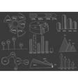 Set of infographics chalk vector image