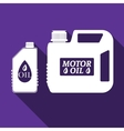 Blank plastic canister for motor oil icon vector image