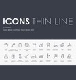 cleaning thin line icons vector image