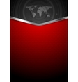 Contrast red black technology background vector image