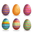 happy easter eggs painted vector image