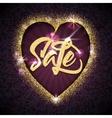 Heart sale - typographic calligraphic lettering vector image