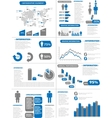 INFOGRAPHIC DEMOGRAPHICS NEW STYLE BLUE vector image