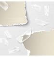 elements torn paper with transparent sellotape vector image