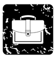 Business suitcase icon grunge style vector image