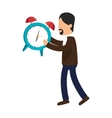 alarm watch time isolated icon vector image