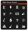 high voltage icon set vector image