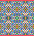seamless pattern colorful ethnic ornament vector image