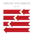 Red Striped Arrows and Ribbons vector image vector image