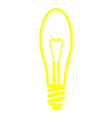 bulb yellow vector image