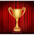 trophy golden cup vector image vector image