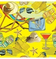 summer seamless pattern recliner on the sand with vector image