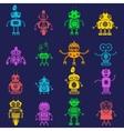 Robot icons mono symbols vector image