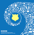 shield icon sign Nice set of beautiful icons vector image
