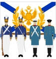 Soldiers and officers of the Russian fleet-1 vector image