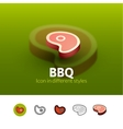 BBQ icon in different style vector image